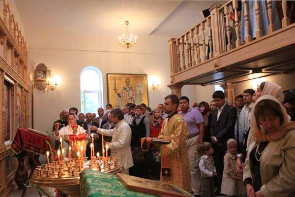 Молебен в честь закладки храма